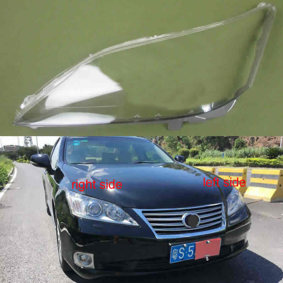 For 2009 2010 2011 Lexus ES240 ES350 Headlight Cover Hood Cover Lamp Shade Headlamps Transparent Lampshade Headlight Shell