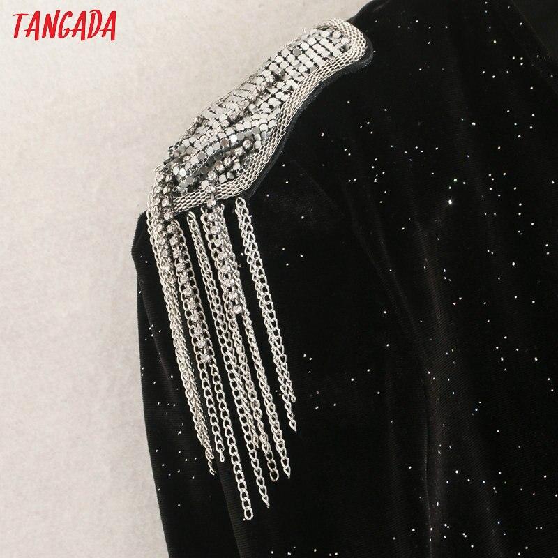 Сексуальное бархатное боди Tangada для мужчин, облегающий костюм с v-образным вырезом и длинным рукавом для вечеринки, черная рубашка, комбинез...