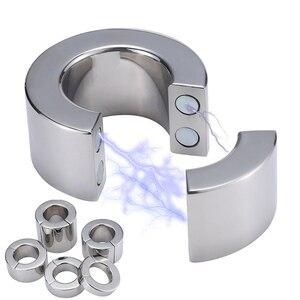 Кольцо для пениса из нержавеющей стали, растяжка для задержки, металлическое кольцо для пениса, для мошонки, для яичек, интимные игрушки для ...