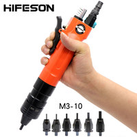 HIFESON Pneumatic Air Rivet Nut Guns Insert threaded Pull Setter Riveters Riveting Nuts Rivnut Tool for M3 M4 M5 M6 M8 M10 Nuts