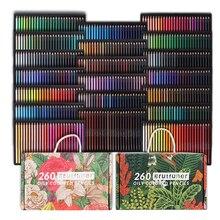 Brutfuner 48/72/120/160/180/260 Colors Wood Colored Pencils Set Oil HB Draw Sketch Colour Pencil For School Student Art Supplies