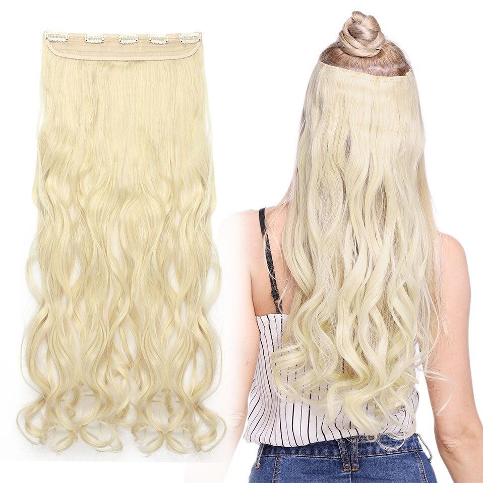 Длинные волнистые накладные волосы s-noilite с клипсой, синтетические натуральные волосы, черные, коричневые, светлые женские накладные волосы ...