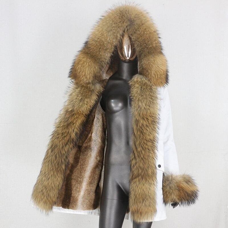 H4b16d791bbfc4a72a0f4ce9d5d660d90V CXFS 2021 New Long Waterproof Parka Winter Jacket Women Real Fur Coat Natural Raccoon Fur Hood Thick Warm Streetwear Removable