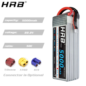 Image 4 - HRB 5000mah 11.1V Lipo Battery 14.8V 50C T Deans XT60 EC5 7.4V 2S 3S 18.5V 22.2V For FPV Airplane Boat 4WD Car RC Parts 4S 5S 6S