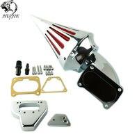 Motorcycle Chrome Spike Air Cleaner Kits Intake Filter For Honda VTX 1800 2002 2009 Moto