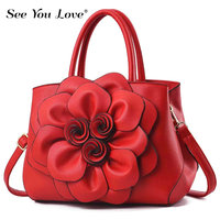 Hot Sale 2019 Women Handbag Casual Female Crossbody Bags Flower Fashion Pu Leather Lady Messenger Bags And Shoulder Bag For Girl