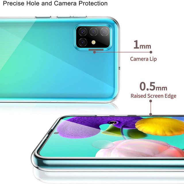 Ultrathin Phone Back Funda for Samsung Galaxy A01 Core A11 A21 A21S A31 A41 A51 A71 A81 A91 5G 360 Full Cover Case Soft TPU Bags 4