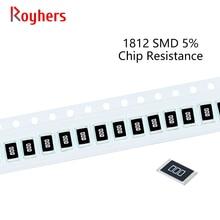 100Pcs 1812 Kit SMD Resistor 1% Tolerância 0R-392R 15R 16R 18R 20R 22R 24R 27R 30R 10 Ohm Componentes Eletrônicos DIY Assorted Set