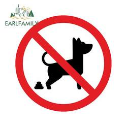 EARLFAMILY 13cm x 12.9cm For No Dog Pooping Fine Decal Graffiti Car Sticker Personality Creative Stickers Vinyl Material Decor
