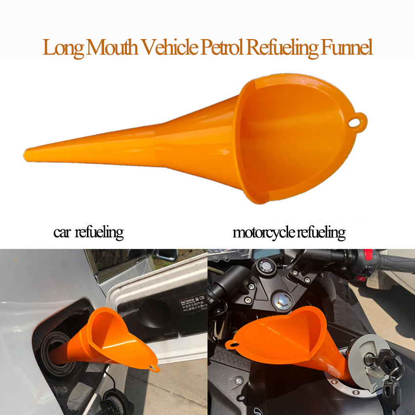 Convenient Use Anti-leaking Plastic Funnel, Truck Car Motorcycle Vehicle Machine Long Mouth Filling Funnel, For Pouring Petro,l