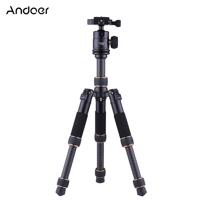 Andoer Gorillapod TP166C Lightweight Carbon Fiber Table Mini Tripod With Ball Head Kit For Canon Nikon Sony Camera DV Camcorder
