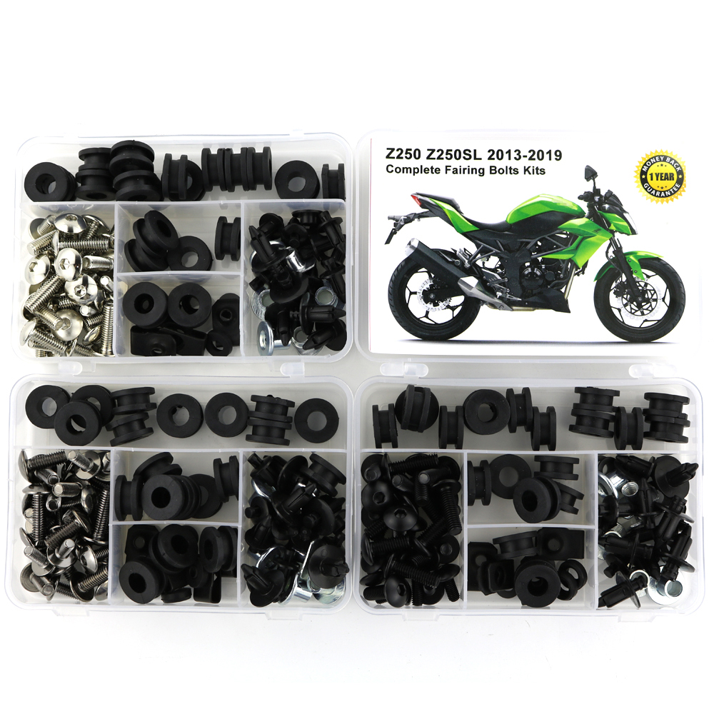 For Kawasaki Z250 Z250SL 2013 2014 2015 2016 2017 2018 2019 Complete Full Fairing Bolts Kit Screws Clips Nut Covering Bolt Steel