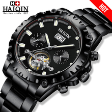HAIQIN Mens watches top brand luxury watches for men mechanical watch mens watch automatic Military waterptoof tourbillon 2020 cheap 5Bar Push Button Hidden Clasp SPORT Mechanical Hand Wind Automatic Self-Wind 23cm Alloy Complete Calendar Shock Resistant