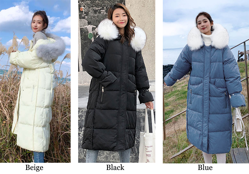 New arrival 2019 women winter long parka cotton padded warm coats fash_A2_3