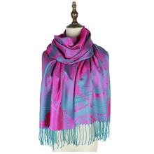 Jzhifiyer winter jacquard scarf rayon wraps shawls scarves femme pashmina brand luxury peony foulard scarfs tassel