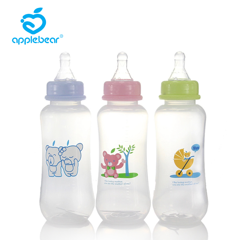 280ml Baby Bottle Cartoon Animal Bottle Gift Newborn Bottle Training Anti-flatulence Cup Portable Baby Doodle Bottle