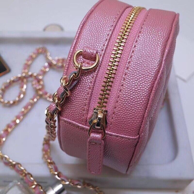 Bolso redondo de moda 2019 para mujer, Mini bolso Circular para mujer, bolso de fiesta para mujer, bolso de cadena con bandolera, bolso de marca para mujer - 6