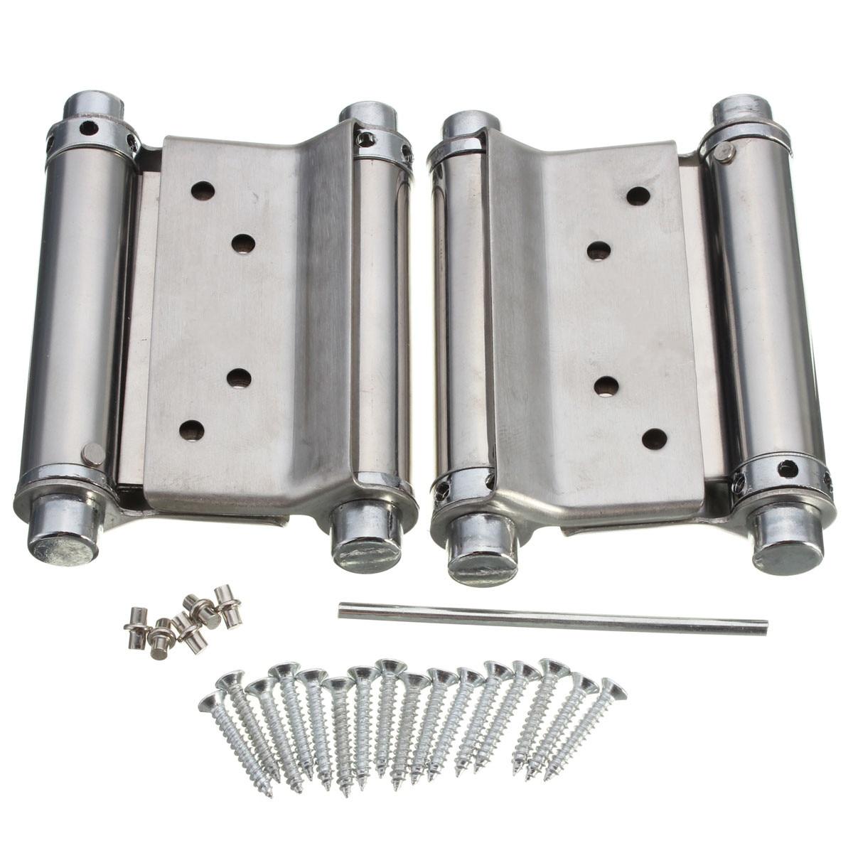 Bisagra de resorte de doble acci/ón de acero inoxidable de 3 pulgadas 2 unidades