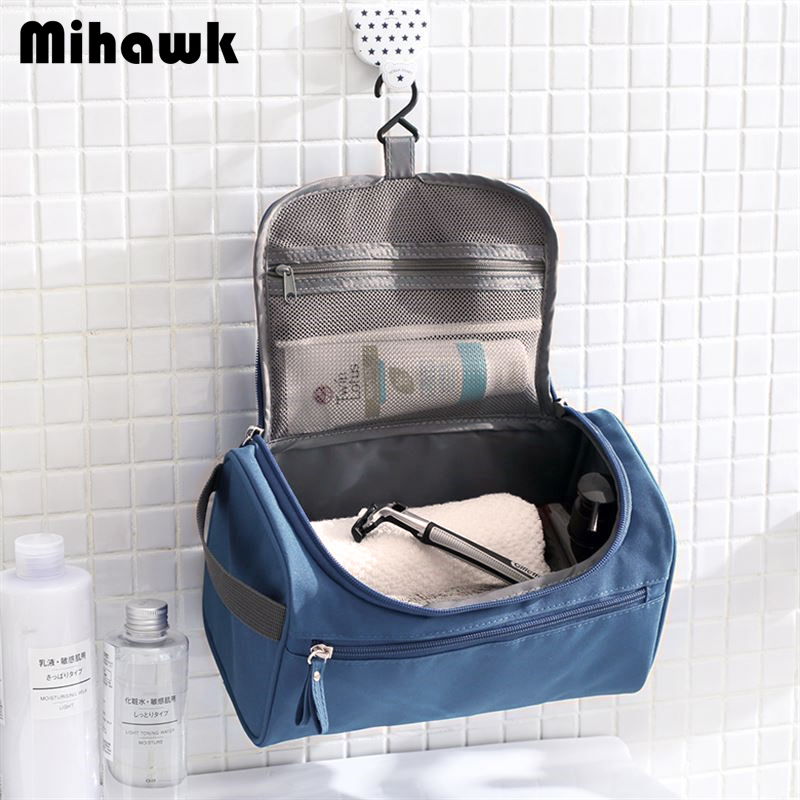 Mihawk Men's Cosmetic Travel Bag Male Hanging Waterproof Wash Makeup Case Toiletry Organizer Necessaries Accessories Supplies