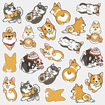 Cute Husky Corgi Pet Dog  Decorative Washi Stickers Scrapbooking Stick Label Diary Stationery Album - discount item  22% OFF Stationery Sticker
