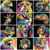 DIY Paints By Numbers Cat Dog Animals 50x40cm Art Pictures Set Coloring Decorative Canvas Wall Artcraft Oil Painting By Numbers