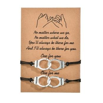 Bracelet menotte couple