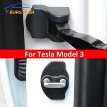 Xburstcar Auto for Tesla Model 3 Model3 2016 2017 2018 2019 2020 2021 ABS Car Door Lock Cover Door Stopper Cover Protection Cap
