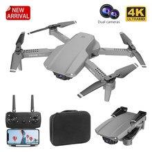 2021 nova e99 rc mini drone 4k 1080p câmera dupla wifi fpv fotografia aérea preto e cinza dobrável dron quadcopter drones brinquedo