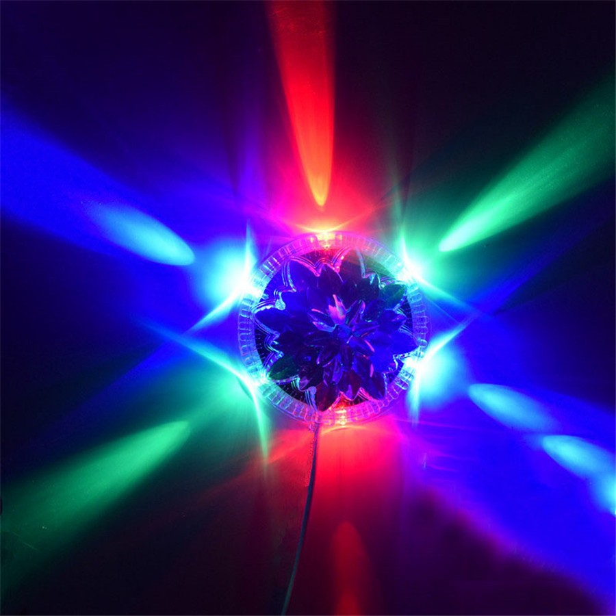 Mini Led Stage Light UFO Petal Multicolor RGB Lights Auto Rotating LED Magic Ball Lamp For Disco DJ Bar KTV Party Home Effect