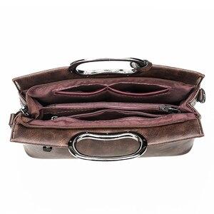 Image 5 - Vintage Lederen Crossbody Tas Hand Tassen Voor Vrouwen 2020 Designer Vrouwen Schouder Messenger Bags Sac Dames Handtassen Hoge Kwaliteit