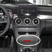 2 pçs 83mm carta emblema emblema para amg interior console central fob logotipo estilo do carro acessório 3d adesivo para b c e glk gla glc
