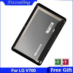 10.1 polegada para lg g pad 10.1 v700 vk700 tablet pc display lcd + digitador da tela de toque assembléia vidro frete grátis