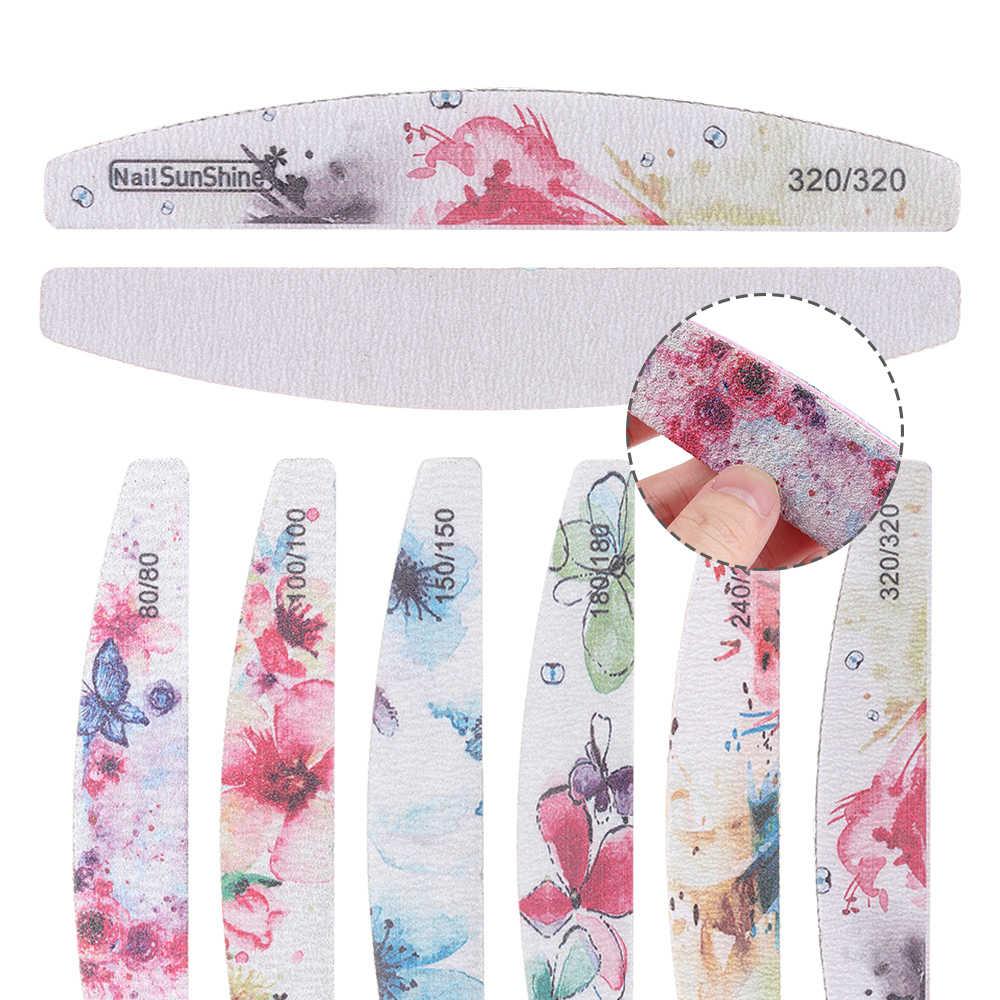1 Pc Dubbelzijdig Bloem Nagelvijlen Wasbare Schuren Buffer Spons Grit Blok Vrouwen Manicure Care Nail Art Accessoires Gereedschap