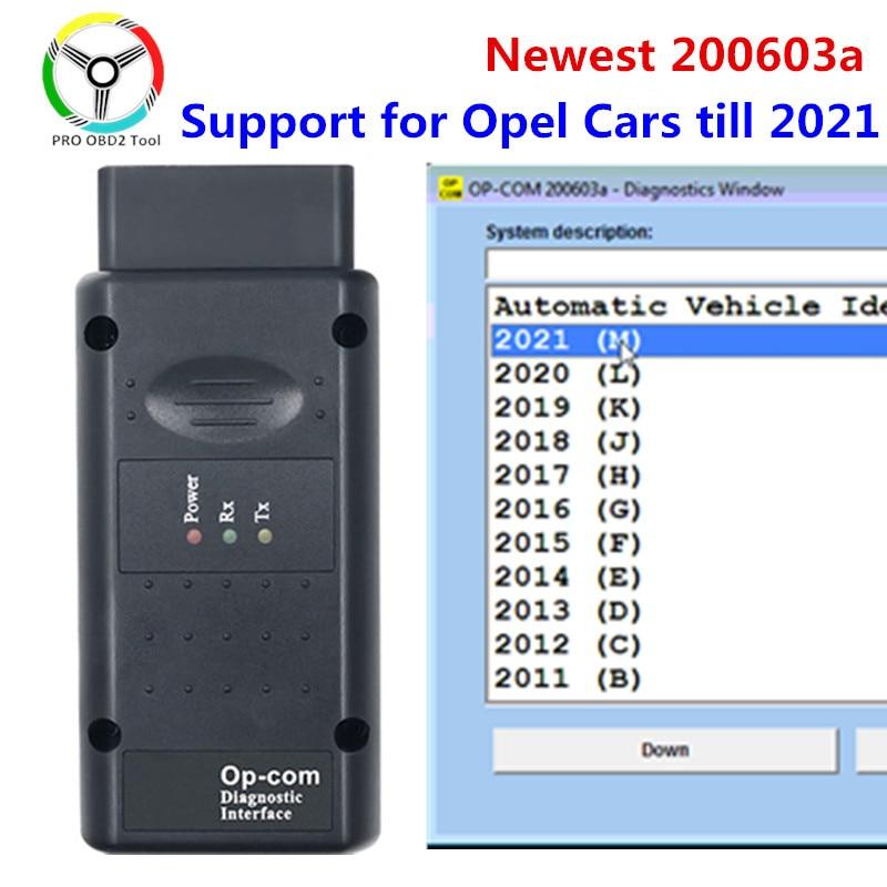 200603a 2021 OPCOM с pic18F458 FTDI FT232RQ чип для диагностики автомобилей Opel сканер Поддержка автомобили opcom 2021 профессии 200603a