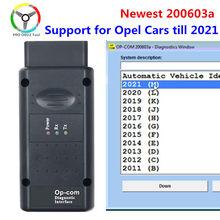 200603a 2021 opcom com pic18f458 ftdi ft232rq chip para opel scanner de diagnóstico do carro suporte carros opcom 2021 profissão 200603a
