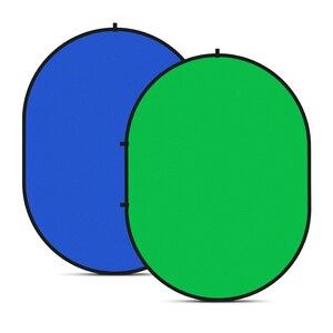 Image 1 - Neewer 2 в 1 зеленый хромакей фотографии с оформлением в виде синий складной фон складной двусторонний фон 5x7 футов/1,5x2 м \