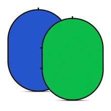 Neewer 2 in 1 Chromakey Yeşil Chromakey Mavi Katlanabilir Zemin Katlanabilir Geri Dönüşümlü Arka Plan 5x7 ayak/ 1.5x2 metre \