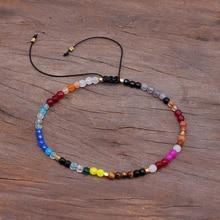 12 Constellation Lucky Stone Beads Simple Bracelet 3mm Adjustable Bohemia Unisex Women Chakra Bracelets