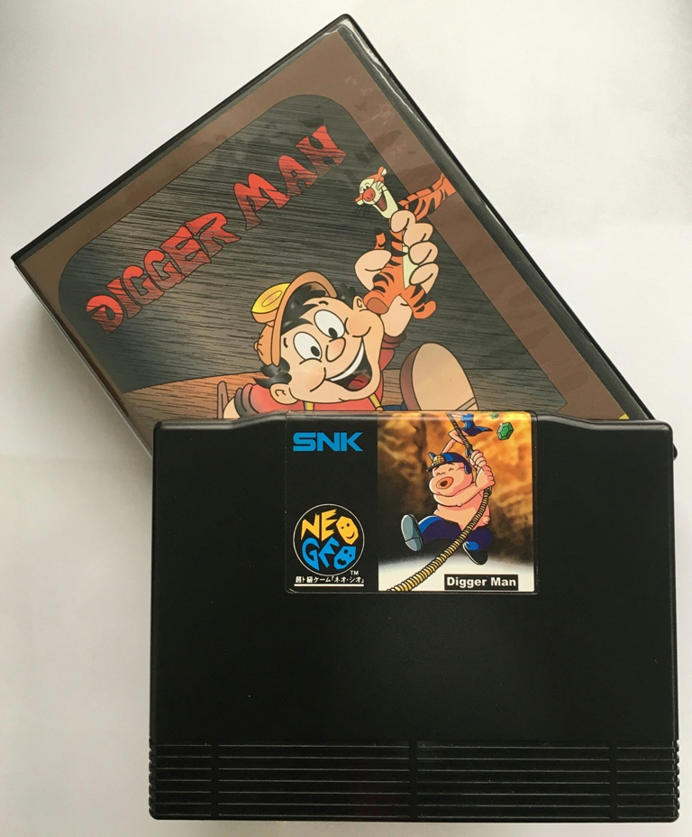 NEOGEO AES Digger Man(Unreleased) Game Cartridge and ShockBox for SNK NEO GEO AES Console