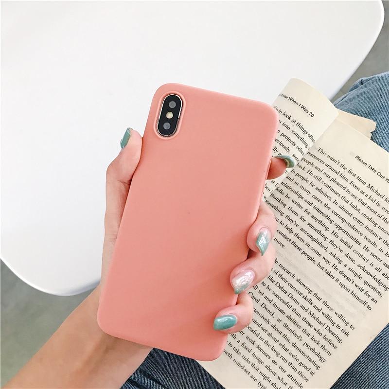 Color Soft Silicone Case For Xiaomi Redmi Note 6 5 7 8 Pro Redmi 7 6A 7A K20 Pro Matte Case For Xiaomi Mi 9 SE Mi 9T Mi8 Lite 5x