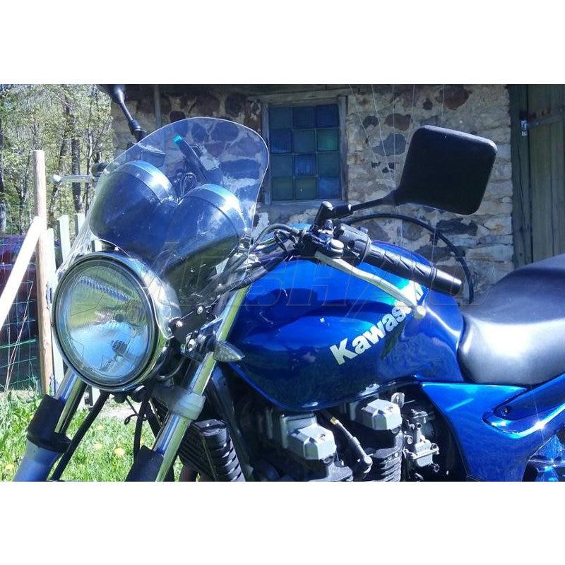 Tela motocicleta Windshield Windscreen Para Kawasaki ER5 ZRX1100 ZRX1200 ZRX400 ZR7 ZR750 ZR550 Zephyr 750 550 Cinza Escuro