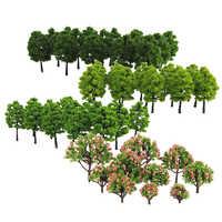 70 Pcs Model 3-9cm Trees Layout Train Railway Diorama Wargame Landscape Scenery HO OO Z TT