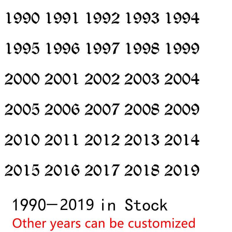 Stainless Steel Tahun Lahir Gelang Emas Tua Bahasa Inggris Tahun Nomor 1995 Gelang Kaki Rantai Aksesoris Pesta untuk Anak-anak Hadiah