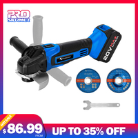 PROSTORMER 20V Angle Grinder Cutting Grinding Tool 4000mAh Lithium Battery Powerful Grinding Metal Wood Cordless Cutting