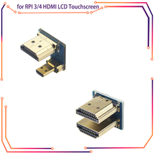 Male-To-Male-Adapter Touchscreen Display Raspberry Pi MICROBOT 3/4-Hdmi 1080P for 3/4-hdmi/Lcd/..