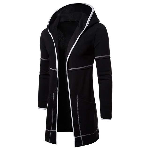 Mężczyźni Bluza Czarna Suknia Hip Hop Płaszcz Bluzy Marki