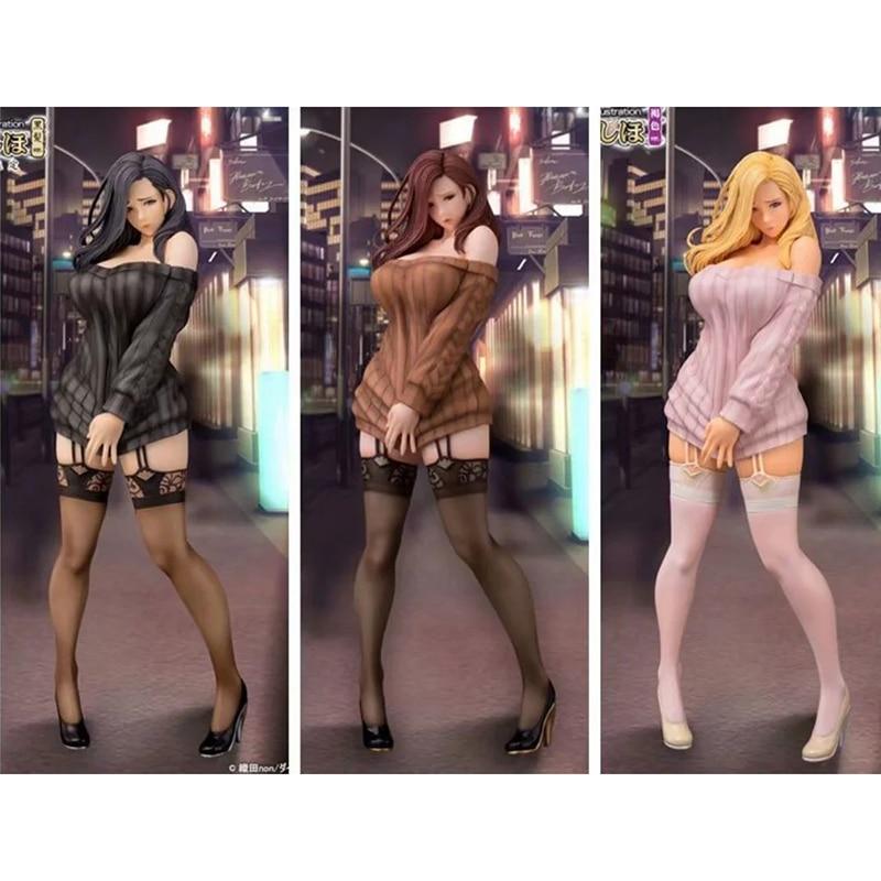 28cm 3 Colors Daiki Shiho Kujo  Oda Not Illustration Take Off Sexy Anime Girls PVC Action Figures Model Collection Figure Model