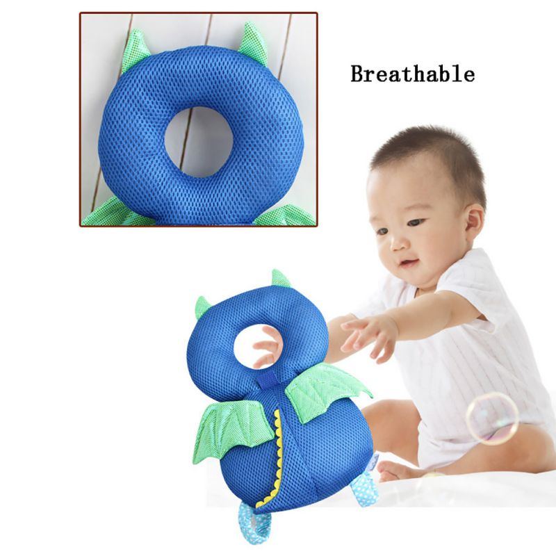 Toddler Baby Pillow Head Back Protector Safety Pad Pillow Infant Toddler Harness Headgear Bear Rabbit Baby Head Protection Blue