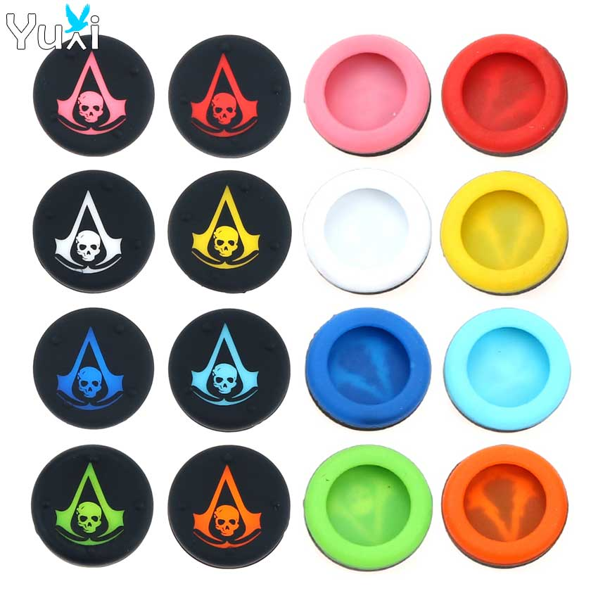 YuXi 8pcs Silicone Analog Joystick Cover for PS3 for PS4 Pro Slim Controller Thumb stick Grips Cap for Xbox 360 One Accessories