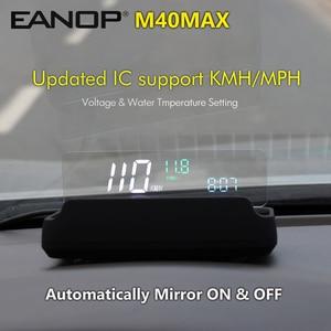 Image 1 - EANOP M40max HUD Head Up Display OBD2 Tacho RPM Geschwindigkeit Projektor Öl verbrauch Wasser Temperatur Monitor KMH MPH APP